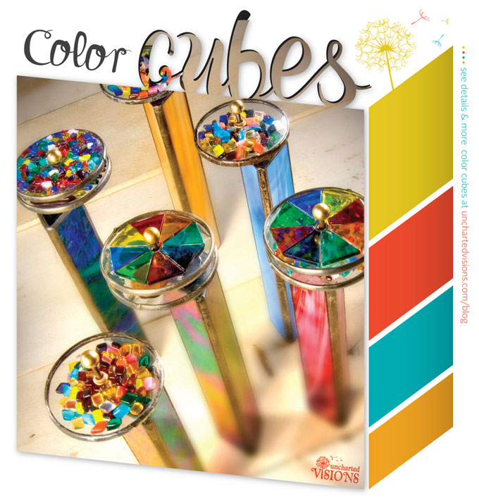 J. Devlin glass kaleidoscopes bring a world of color ideas to your home.