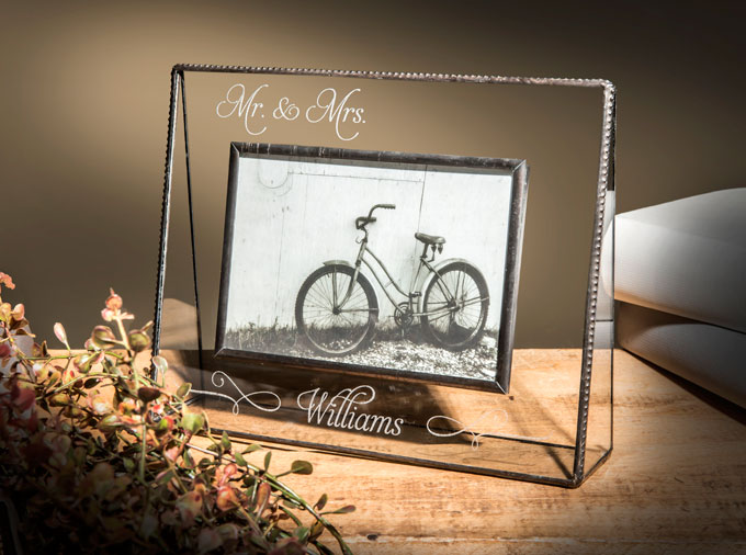 Personalized gifts to commemorate weddings.