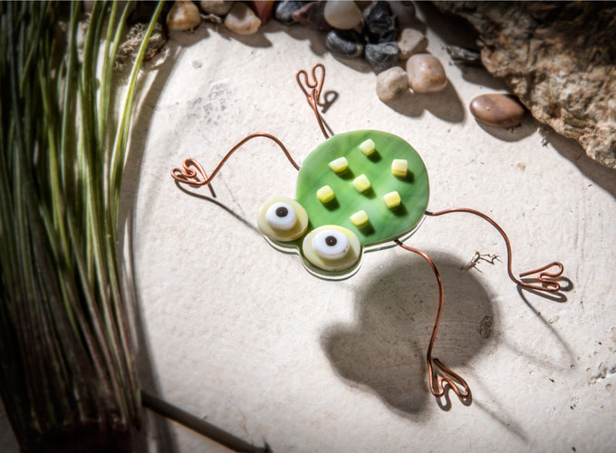 Fused Glass Collectible: Frog