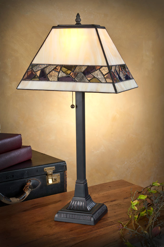 J. Devlin mosaic stained glass table lamp